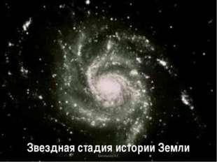 Звездная стадия истории Земли Васильева Н.Г. Васильева Н.Г.