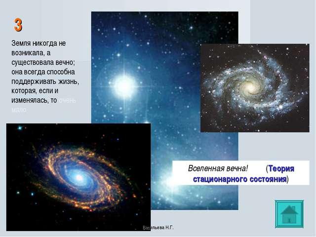 3 Вселенная вечна! (Теория стационарного состояния) Земля никогда не возникал...