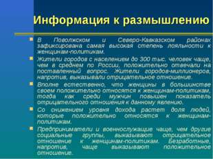 В Поволжском и Северо-Кавказском районах зафиксирована самая высокая степень
