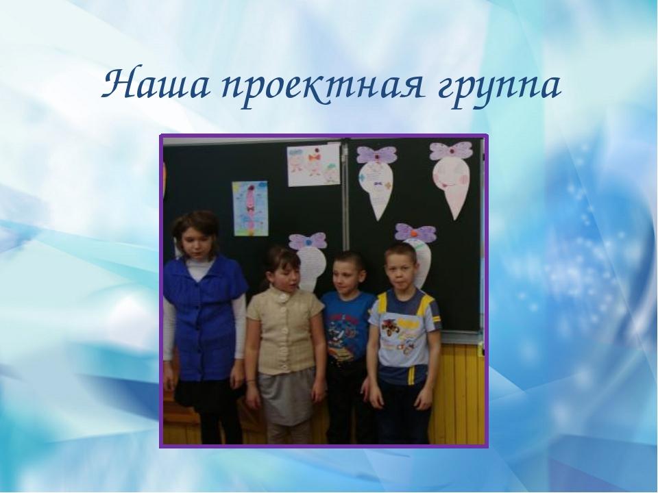 Наша проектная группа