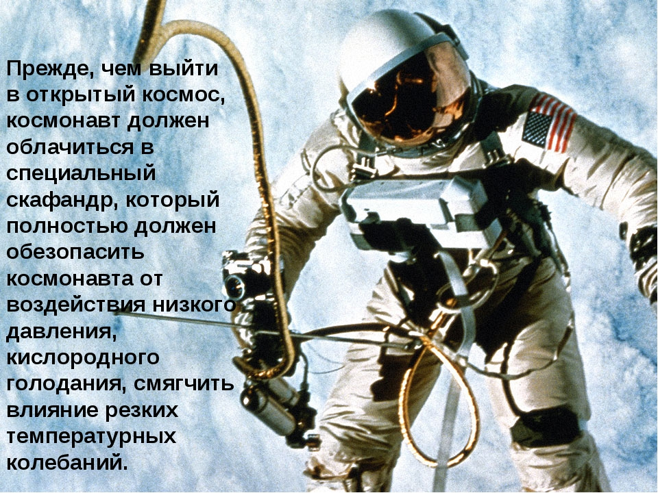 Прежде, чем выйти в открытый космос, космонавт должен облачиться в специальны...