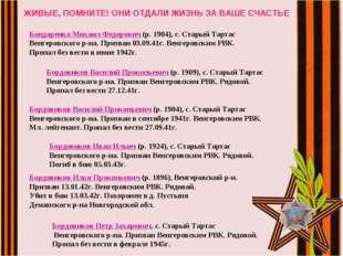 ЖИВЫЕ, ПОМНИТЕ! ОНИ ОТДАЛИ ЖИЗНЬ ЗА ВАШЕ СЧАСТЬЕ Бондаренко Михаил Федорович