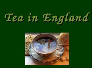 Tea in England