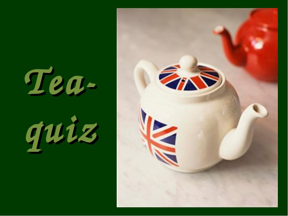 Tea-quiz