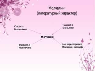 Молчалин (литературный характер) Молчалин Софья о Молчалине Фамусов о Молчали