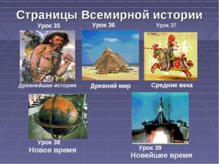 Страницы Всемирной истории Древнейшая история Древний мир Средние века Новое