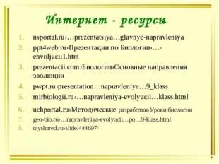 Интернет - ресурсы nsportal.ru›…prezentatsiya…glavnye-napravleniya ppt4web.ru