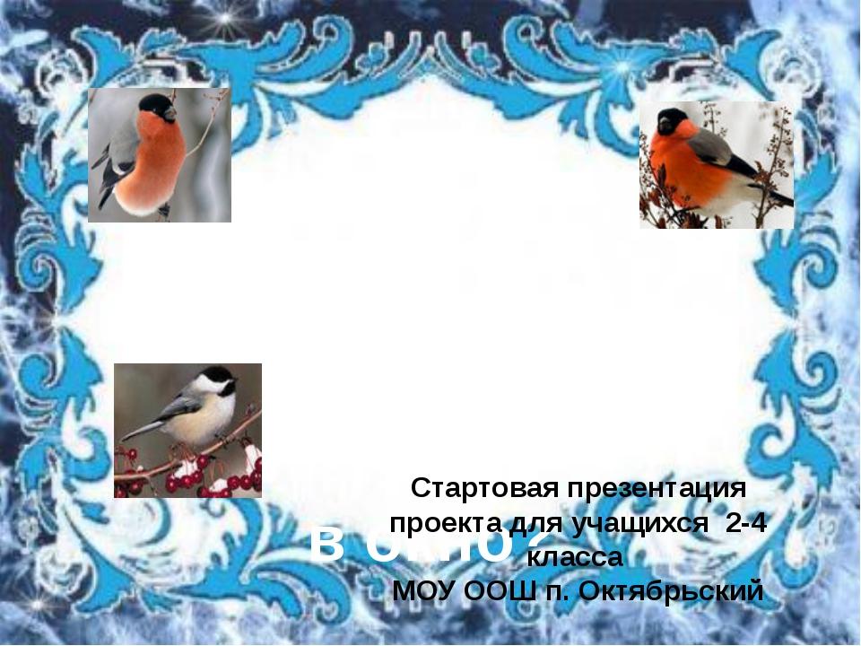 Почему зимой птичка стучит в окно? Стартовая презентация проекта для учащихся...