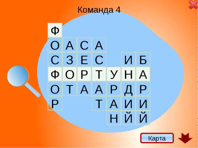 Ф Р Т О У А Н Команда 4 Карта Ф