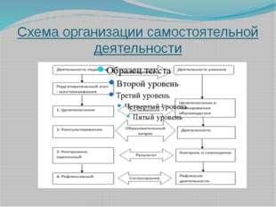 Схема организации самостоятельной деятельности