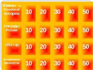 Иваны в Российской истории «40» С именем этого Ивана связана история появлени
