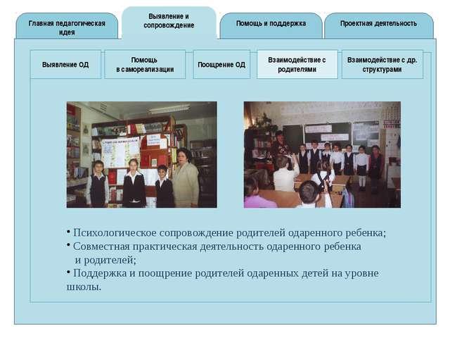Помощь и поддержка Выявление и сопровождение Главная педагогическая идея Про...