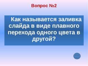 Вопрос №5 Составная часть презентации, содержащая различные объекты, называет