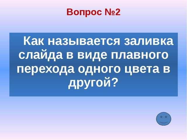 Вопрос №5 Составная часть презентации, содержащая различные объекты, называет...