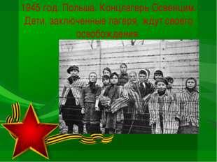 1945 год. Польша. Концлагерь Освенцим. Дети, заключенные лагеря, ждут своего
