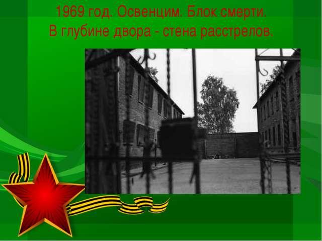 1969 год. Освенцим. Блок смерти. В глубине двора - стена расстрелов.