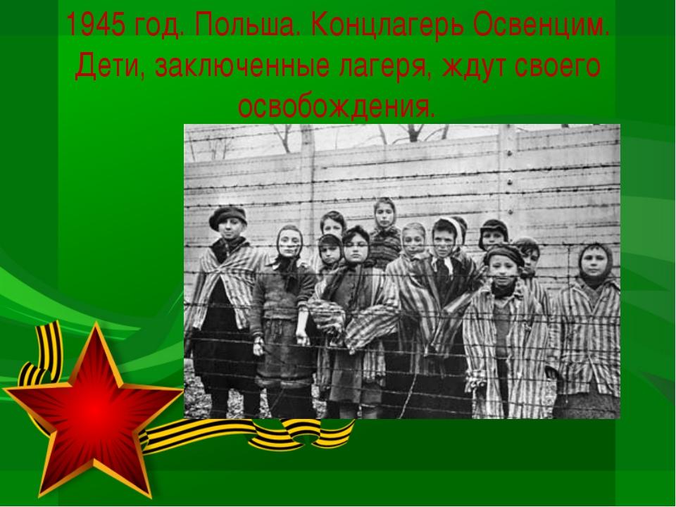 1945 год. Польша. Концлагерь Освенцим. Дети, заключенные лагеря, ждут своего...