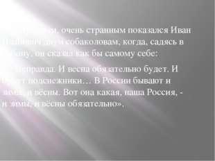 «Странным, очень странным показался Иван Иванович двум собаколовам, когда, с