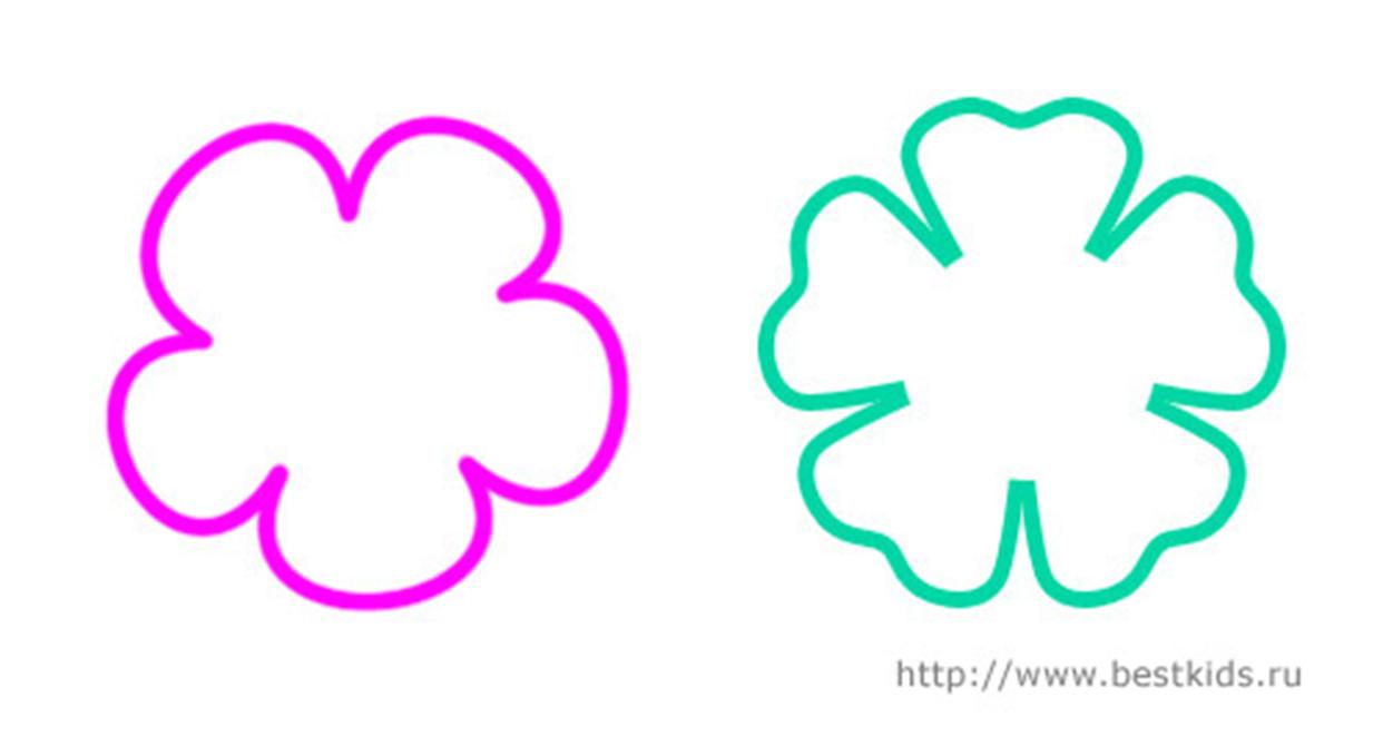 Трафареты цветов для аппликации