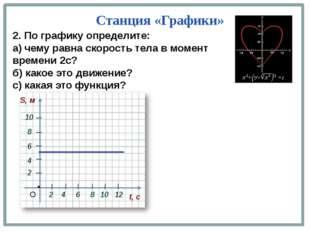 2 4 2. По графику определите: а) чему равна скорость тела в момент времени 2с
