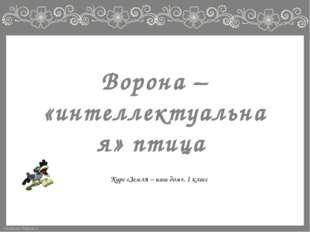 Ворона – «интеллектуальная» птица Курс «Земля – наш дом», 1 класс FokinaLida.