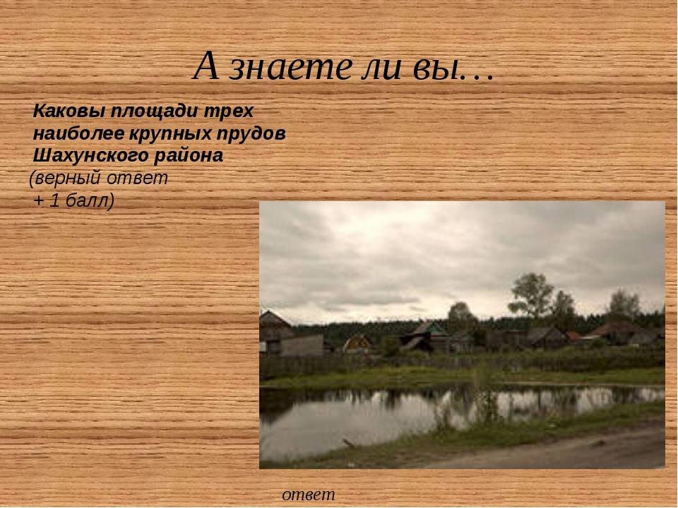 А знаете ли вы… На территории Шахунского района протекает множество мелких ре...