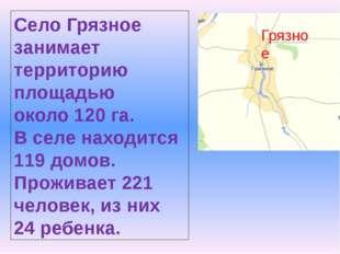 Грязное Село Грязное занимает территорию площадью около 120 га. В селе находи