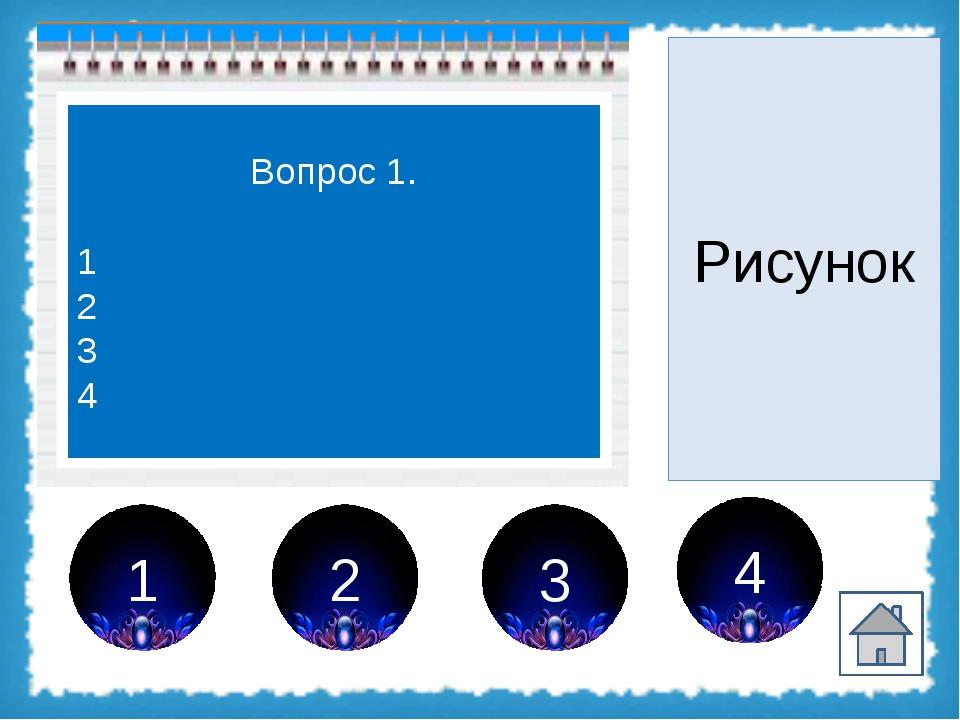 2 1 3 4 Вопрос 2. 1 2 3 4 Рисунок