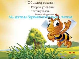 Мы должны бережно относиться к пчелам!