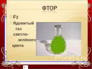 Сектор «Галогены» 40 баллов При обычных условиях – это газ светло-зелёного цв