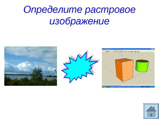 Определите растровое изображение