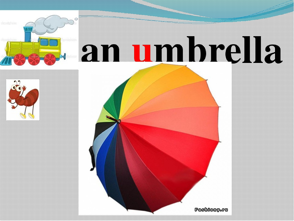 an umbrella