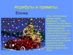 Атрибуты и приметы: Ёлочка Ёлка - неотъемлемый атрибут зимних праздников — та
