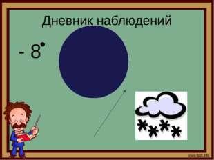 Дневник наблюдений - 8