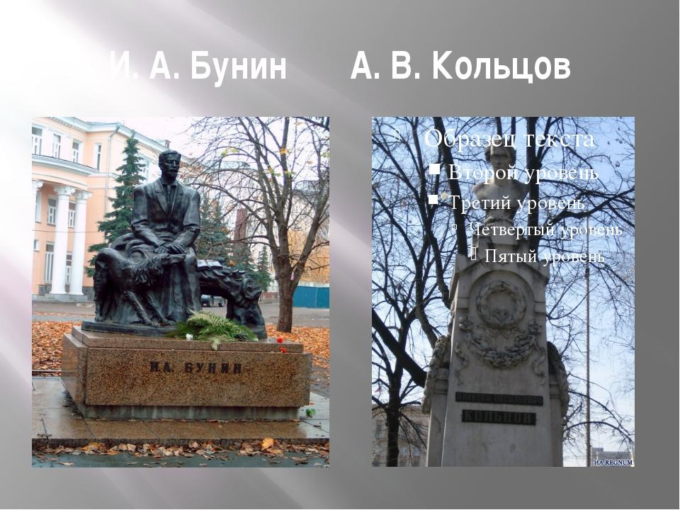 И. А. Бунин А. В. Кольцов