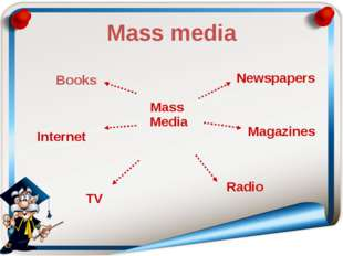 Mass media Mass Media Newspapers Magazines Radio TV Internet Books