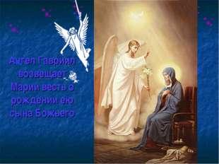 Ангел Гавриил возвещает Марии весть о рождении ею сына Божьего