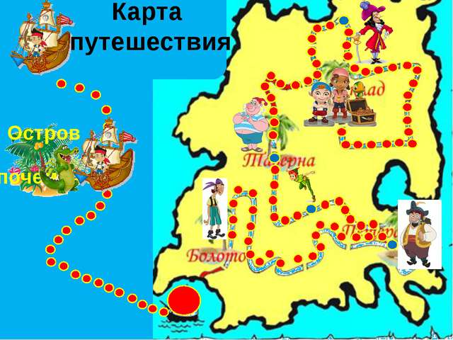Карта путешествия Остров почемучка