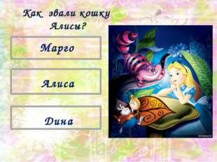 Дина Алиса Марго Как звали кошку Алисы?