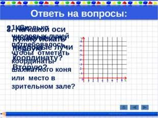 Ответь на вопросы: 1. Сколько числовых лучей потребовалось, чтобы отметить ко
