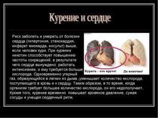 Риск заболеть и умереть от болезни сердца (гипертония, стенокардия, инфаркт м