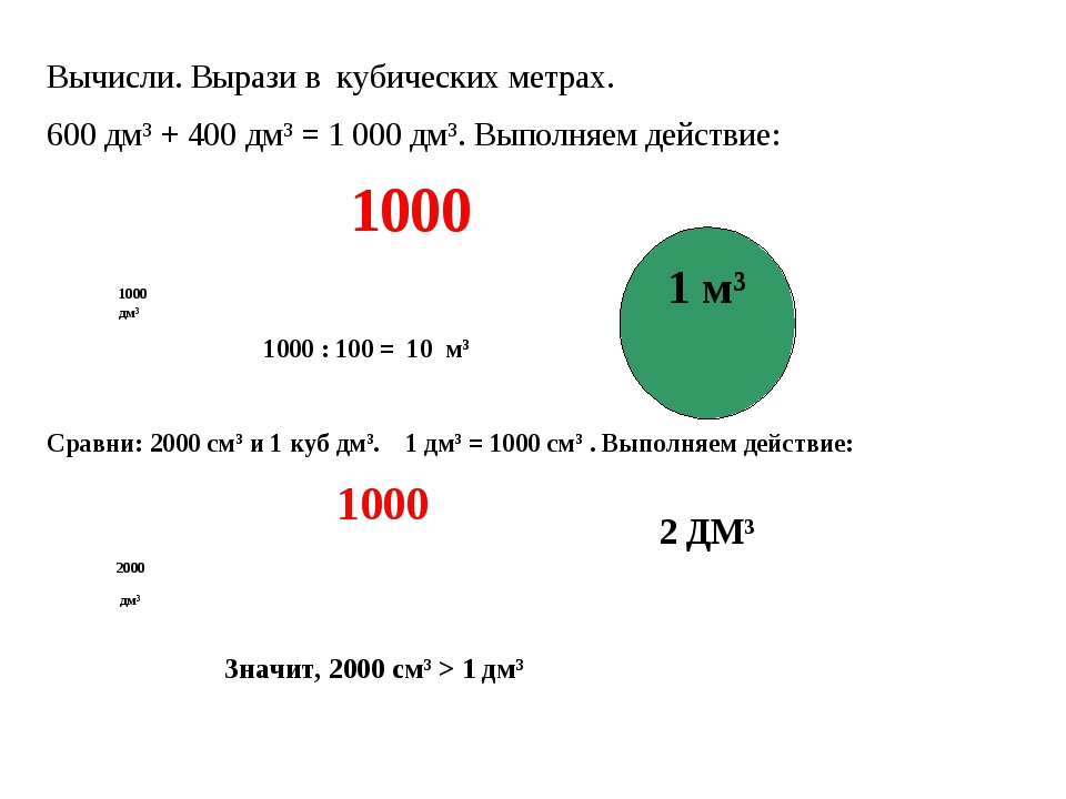 600 метров кубических сколько литров