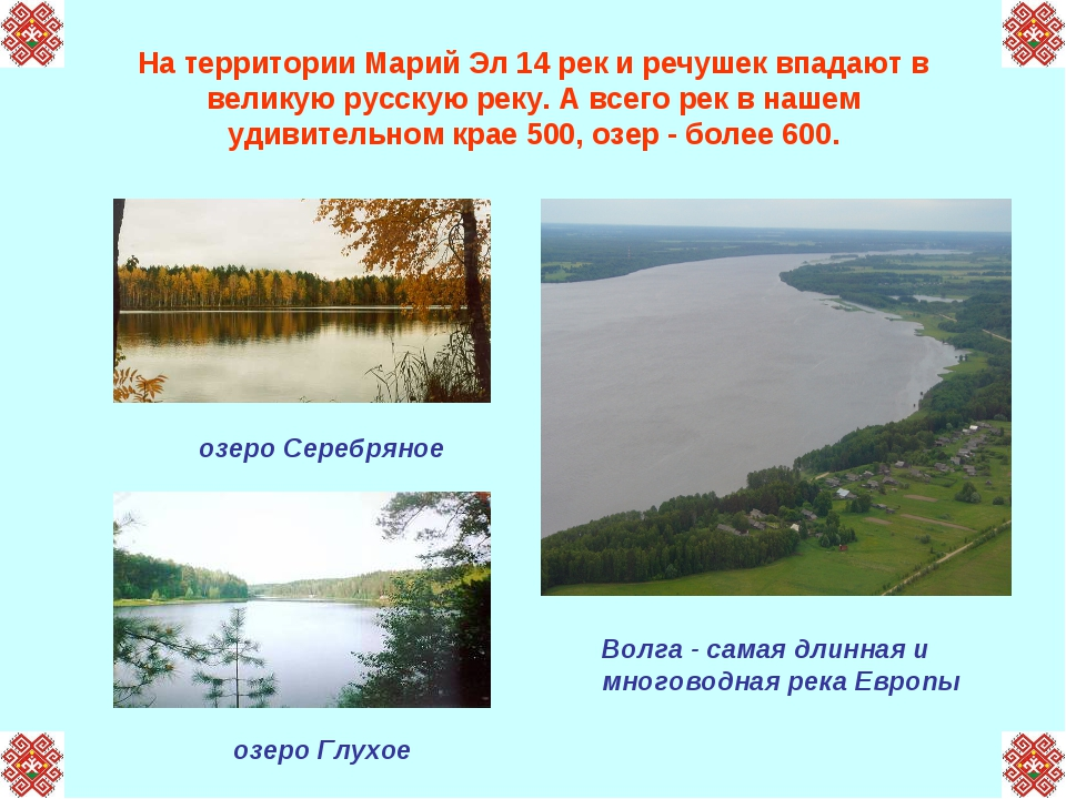 На территории Марий Эл 14 рек и речушек впадают в великую русскую реку. А все...