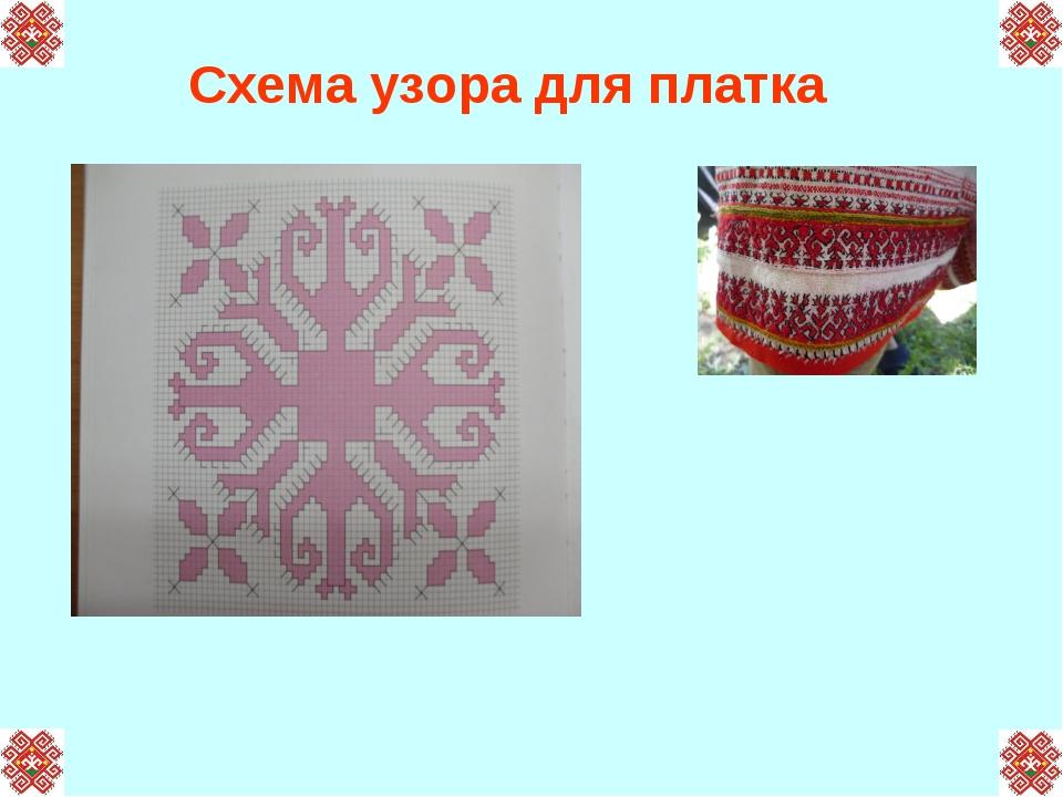 Схема узора для платка