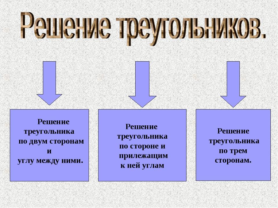 Решение треугольника по двум сторонам и углу между ними. Решение треугольник...