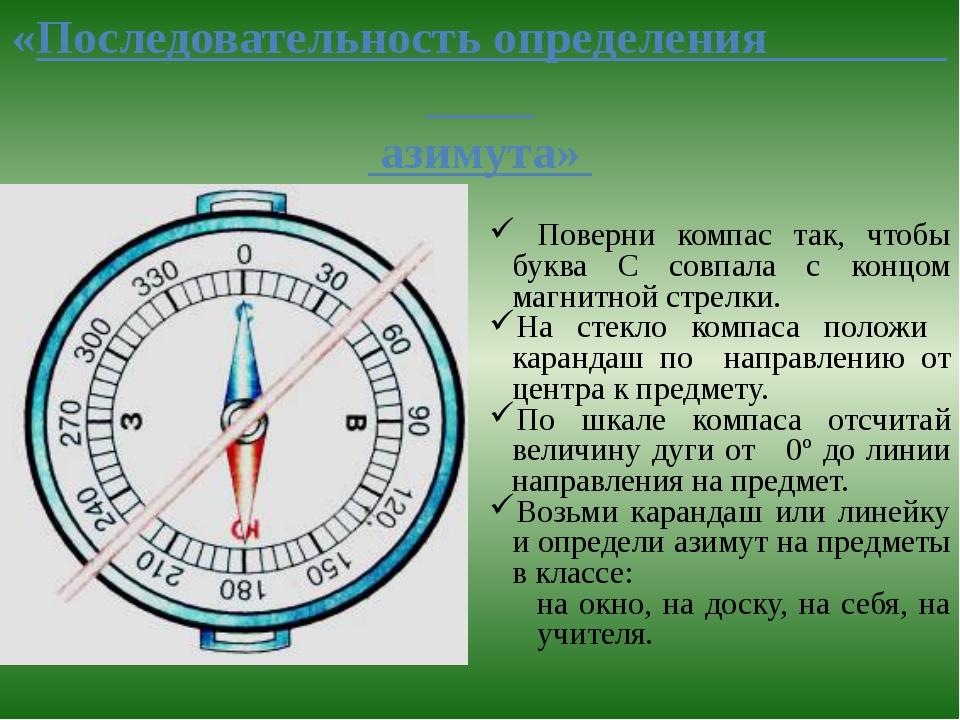азимут картинка градусы марте