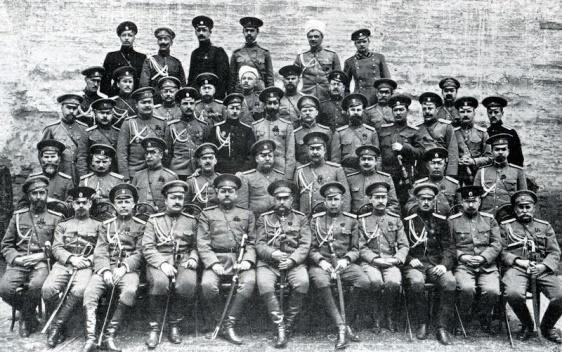 Николай Николаевич Юденич, герой Эрзерума, генерал от инфантерии со своим штабом на Кавказком фронте. 11 — 16 февраля 1916 года взятие Эрзерума