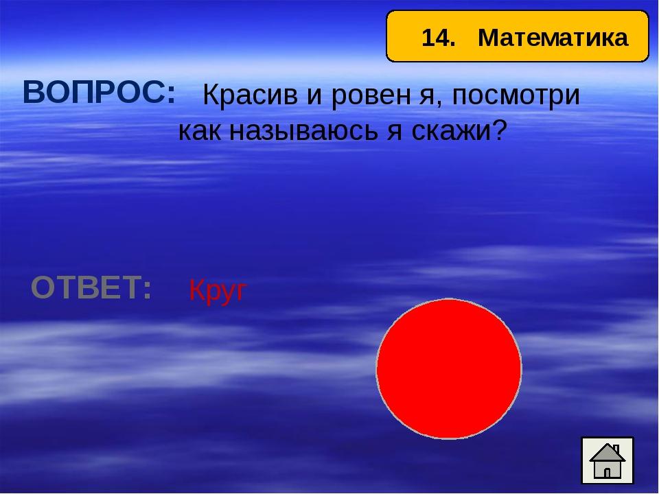 17. Математика ВОПРОС: Им измеряют углы. ОТВЕТ: Транспортир