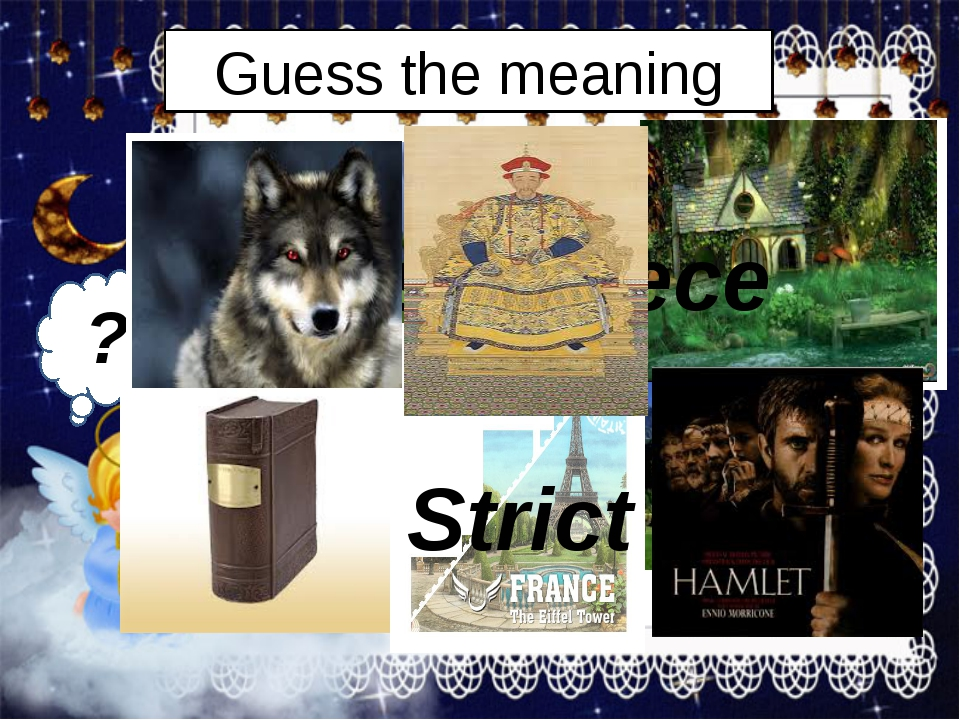 Guess the meaning ?? World Settlement Masterpiece Strict