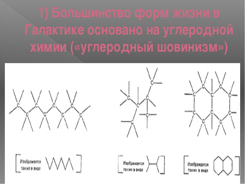 1) Большинство форм жизни в Галактикеосновано на углеродной химии («углеродн...